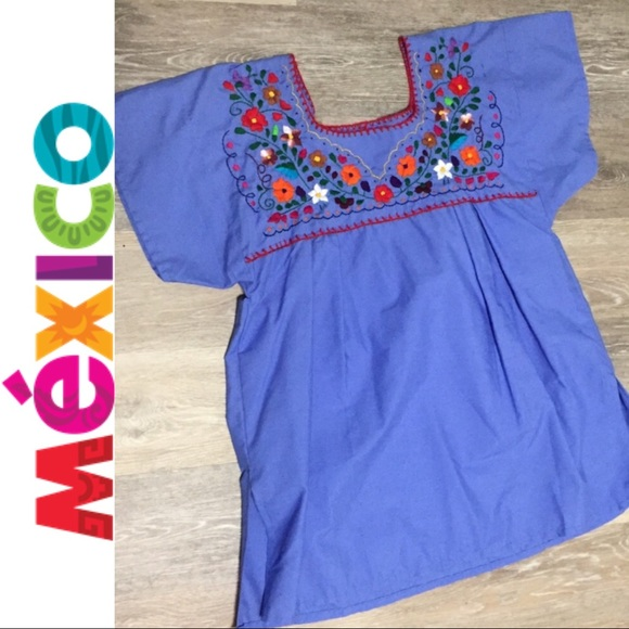 Mexico Tops Authentic Mexican Embroidered Blouse B3 Poshmark